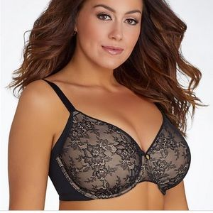 NWT INNOVATIONS Flawless Lace Full Coverage Bra
